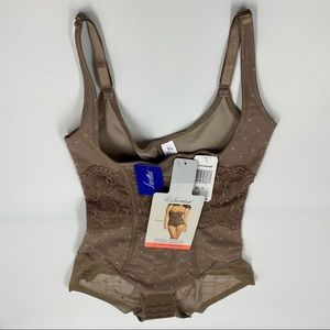 Leonisa Interlace Firm Control Bodysuit Size Small